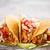 鶏 · タコス · ソフト · 辛い · チキンサラダ · サワークリーム - ストックフォト © grafvision