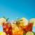 glas · citroen · kalk · mint · geïsoleerd - stockfoto © grafvision