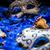 kadın · karnaval · maskeler · mavi · tüy · parti - stok fotoğraf © grafvision