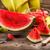 арбуза · ножом · таблице · природы · фрукты · здоровья - Сток-фото © grafvision
