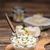 cottage · cheese · kom · bieslook · glas · achtergrond · huisje - stockfoto © grafvision