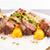 rack · cordero · cena · patatas · cereza - foto stock © grafvision