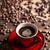 kávéscsésze · kávé · háttér · bolt · sötét · reggeli - stock fotó © grafvision
