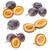 ingesteld · pruimen · geïsoleerd · witte · voedsel · vruchten - stockfoto © grafvision