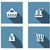 shopping flat icons set wit long shadow stock photo © graphit