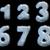 números · coleção · descobrir · isolado · branco · água - foto stock © grasycho