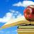 kırmızı · elma · kitap · kâğıt · kitaplar · okul · meyve - stok fotoğraf © grazvydas