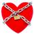 красный · сердце · заблокированный · цепь · изолированный · белый - Сток-фото © grazvydas