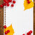 autumn leaves and berries with a paper sheet stock photo © grazvydas