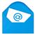 Newsletter · blau · Umschlag · Symbol · isoliert · weiß - stock foto © grazvydas