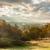 luz · solar · nuvens · manhã · floresta · céu · primavera - foto stock © gregorydean
