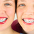 close up of two young girls faces stock photo © gregorydean