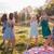 meninas · dança · gramíneo · campo · luz · solar · jovem - foto stock © gregorydean