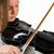 menina · arco · violino · preto · cabelo - foto stock © gregorydean