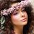 portrait · jolie · femme · couronne · rose · fleurs - photo stock © gromovataya