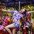 funfair cheerful woman in amusement park on carousel enjoyment stock photo © gromovataya