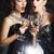 女性 · 明けましておめでとうございます · ワイングラス · シャンパン · クリスマス · 宴会 - ストックフォト © gromovataya