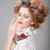 fantázia · retro · divat · nő · fehér · klasszikus - stock fotó © gromovataya