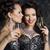 christmas · mode · vrouwen · wijnglazen · champagne · banket - stockfoto © gromovataya