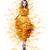 Classy Graceful Shiny Woman in Trendy Modern Yellow Vernal Dress stock photo © gromovataya