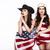 steampunk · menina · bandeira · americana · parede · luz · bandeira - foto stock © gromovataya