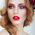 visage gorgeous woman with professional evening make up stock photo © gromovataya
