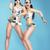 night life two glamorous women dancers in fantastic masks stock photo © gromovataya