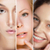 Beauty Collage. Set of Women's Faces with Different Make Up stock photo © gromovataya