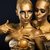 masquerade enjoyment two glossy women with golden body art glamor stock photo © gromovataya