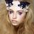 Coloring. Brightly Painted Woman's Skin - Blue Eyeshadow. Meekness. Tenderness stock photo © gromovataya