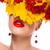 Geel · witte · carnaval · masker · Rood · top - stockfoto © gromovataya