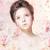 Beautiful Woman Face with Natural Makeup over Floral Rose Pattern stock photo © gromovataya