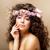 teint · jeune · femme · coiffure - photo stock © gromovataya