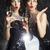 クリスマス · ファッション · 女性 · ワイングラス · シャンパン · 宴会 - ストックフォト © gromovataya