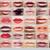 farklı · kırmızı · ruj · güzellik · beyaz · dudaklar · karanlık - stok fotoğraf © gromovataya