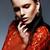 giovani · magnifico · donna · vestito · rosso · bella - foto d'archivio © gromovataya