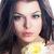 schoonheid · sensueel · vrouw · gezicht · boeket · bloemen · mooi · meisje - stockfoto © gromovataya