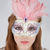 beautiful teenage girl wearing carnival mask stock photo © gsermek