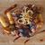 krumpli · disznóhús · borda · tányér · bab · sekély - stock fotó © gsermek