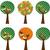 vector · najaar · landschap · vogels · bomen · hemel - stockfoto © gubh83