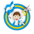 futballabda · rajz · Argentína · zászló · arc · futball - stock fotó © gubh83