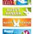 iyi · paskalyalar · tavşan · tavşan · ayarlamak · afişler · vektör - stok fotoğraf © gubh83