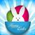 wesołych · Świąt · królik · bunny · fioletowy · wektora · rodziny - zdjęcia stock © gubh83