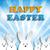 happy easter rabbit bunny on blue background stock photo © gubh83