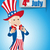 votar · distintivo · Estados · Unidos · vazio · botão · eleição - foto stock © gubh83
