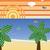 verão · viajar · silhueta · praia · pôr · do · sol · retro - foto stock © gubh83