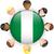Nigeria · banderą · przycisk · wektora · szkła - zdjęcia stock © gubh83
