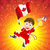 canada sport fan with flag and horn stock photo © gubh83