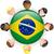 Бразилия · вектора · набор · подробный · стране · форма - Сток-фото © gubh83