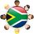 África · do · Sul · bandeira · isolado · branco · fundo · assinar - foto stock © gubh83